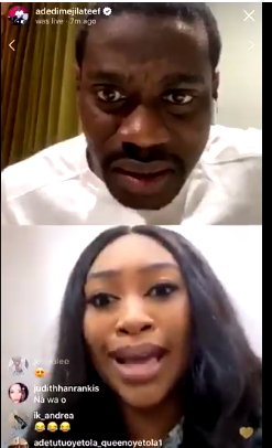 Lateef Adedimeji and his wife to be